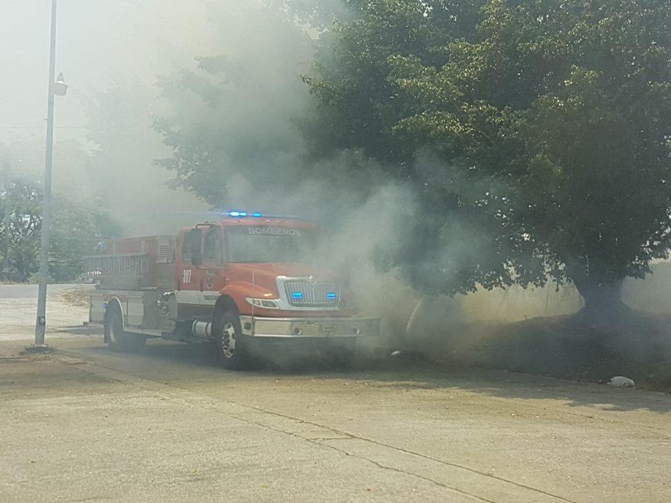 Pacientes del Hospital Luis Chicho Fábrega  afectados por quema de herbazales.